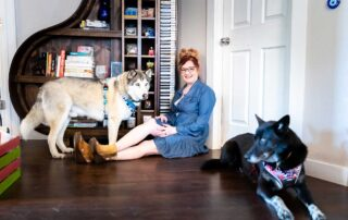 Dogs and Books! Two of Courtney's favorite things